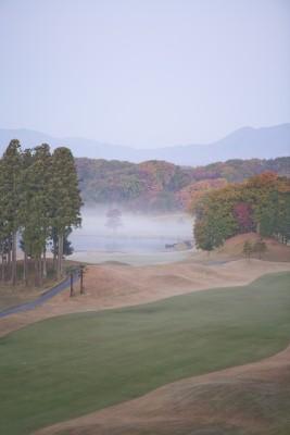 朝霞のゴルフ場