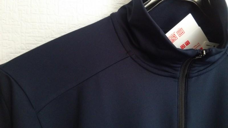 ユニクロウォームドライハーフジップT長袖2