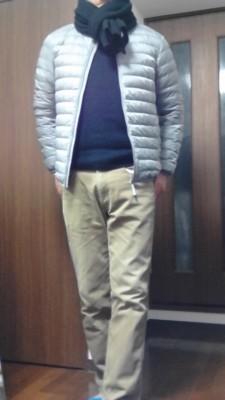 冬のサッカー観戦服装_普段着1