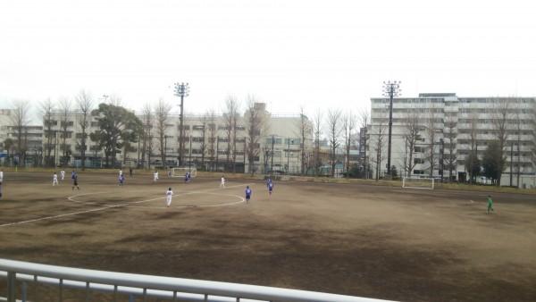 サッカーグラウンド土練習試合