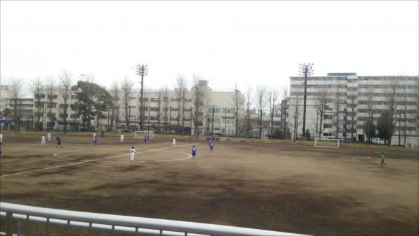 サッカーグラウンド土練習試合2